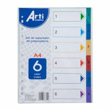 set-de-separadores-arti-creativo-a4-pp-6-colores