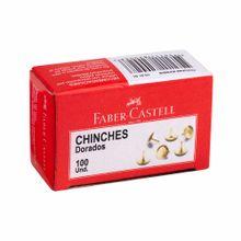 chinches-faber-castell-dorados-caja-100un