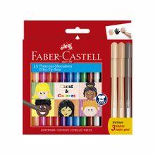 plumones-faber-castell-caras-y-colores-caja-15un