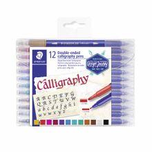 marcador-staedtler-punta-doble-calligraphy-blister-12un