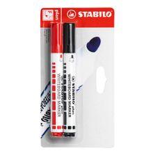 plumon-para-pizarra-stabilo-blister-rojo-y-negro