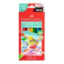 ecolapices-faber-castell-colores-acuarelables-caja-12un-pincel-tajador