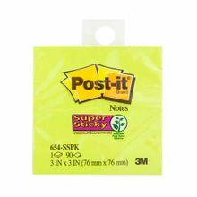 notas-adhesivas-post-it-verde-neon-taco-90-hojas