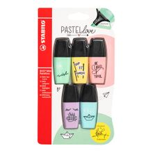 mini-resaltador-stabilo-pastel-love-blister-5un