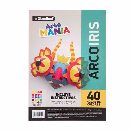 block-standford-arte-mania-papel-arco-iris-40-hojas