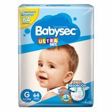 panales-para-bebe-babysec-ultra-sec-talla-g-paquete-64un