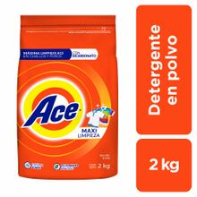 Detergente En Polvo Ace Regular Bolsa 2Kg