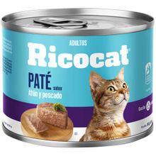 comida-para-gatos-ricocat-pate-sabor-atun-y-pescado-lata-160g