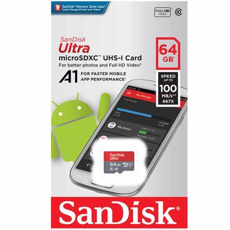 memoria-micro-sdxc-sandisk-ultra-c10-64gb