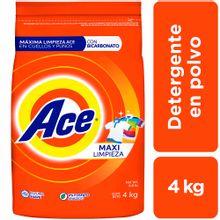 Detergente En Polvo Ace Regular Bolsa 4Kg