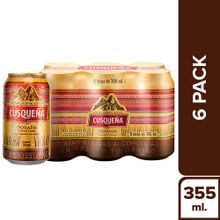 Cerveza Cusqueña Golden Lager 6 Pack Lata 355M...