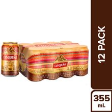 Cerveza Cusqueña Golden Lager 12 Pack Lata 355...