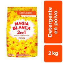 Detergente En Polvo Magia Blanca 2 En 1 Flores...