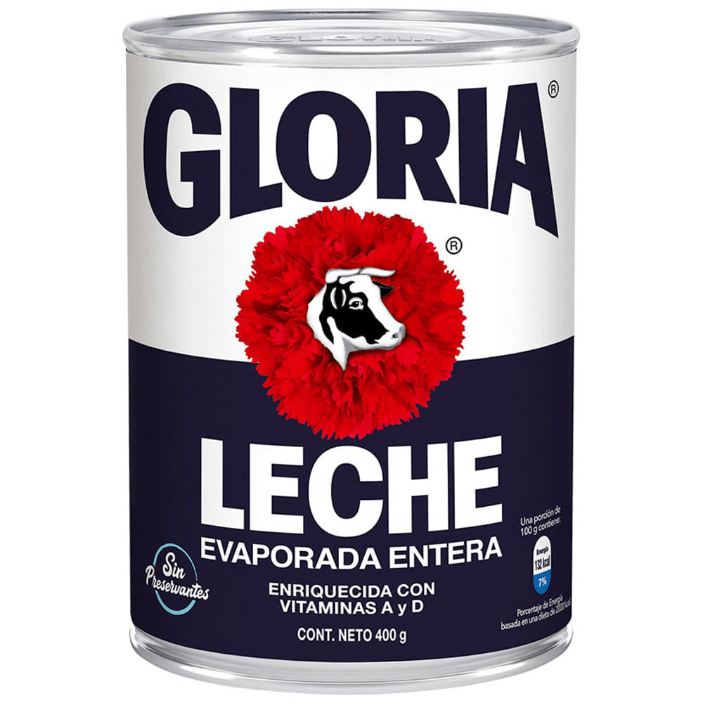 Leche Gloria Evaporada Entera Lata 400g Plazavea Supermercado