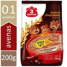 Avena Chocolate Premium 3 Ositos Bolsa 200G