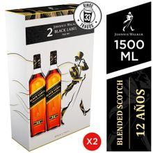 Pack Whisky Johnnie Walker Black Label Botella...