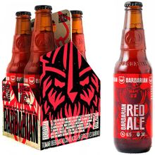 Cerveza Barbarian Red Ale Botella 330Ml Pack 4...