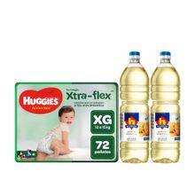 pack-huggies-panales-active-sec-talla-xg-paquete-72un---aceite-vegetal-nicolini-botella-1l-2un