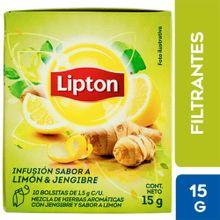 Infusiones Lipton Té Limón Y Jengibre Caja 10U...