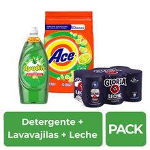 pack-detergente-ace-limon-bolsa-4kg-lavavajilla-ayudin-botella-900ml-leche-gloria-evaporada-lata-400g-paquete-6un