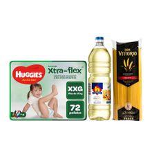 pack-huggies-panales-active-sec-talla-xxg-paquete-72un-aceite-vegetal-nicolini-botella-1l-spaghetti-don-vittorio-bolsa-1kg