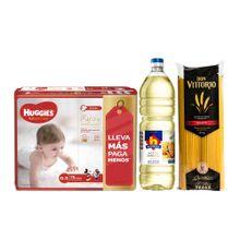 pack-huggies-panales-natural-care-puro-y-natural-talla-g-paquete-76-un-aceite-nicolini-botella-1l-spaghetti-don-vittorio-bolsa-1kg