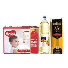 pack-huggies-panales-natural-care-puro-y-natural-talla-xxg-paquete-68-un-aceite-nicolini-botella-1l-spaghetti-don-vittorio-bolsa-1kg