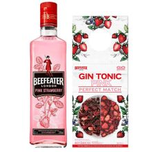 Pack Beefeater Gin Pink Botella 750Ml + Comple...