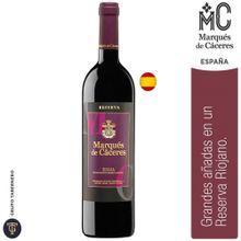 Vino Marqués De Cáceres Rioja Reserva 2008 Bot...