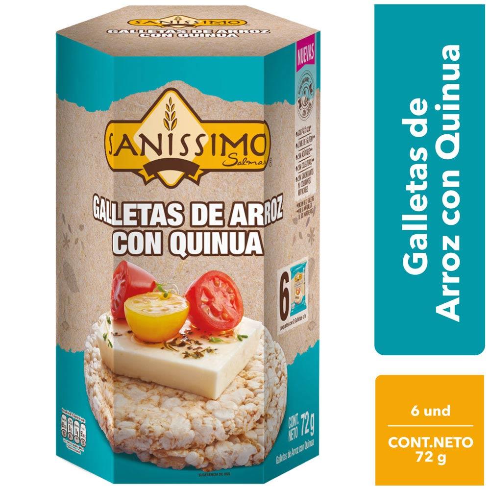 Galletas De Arroz Y Quinua Salmas Caja 72g Plazavea Supermercado