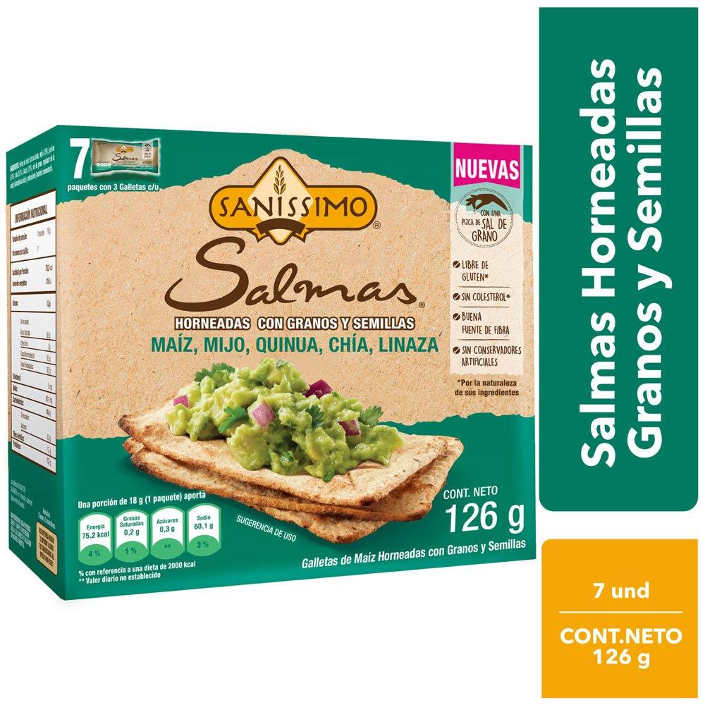 Galletas De Granos Y Semillas Salmas Caja 126g Plazavea Supermercado