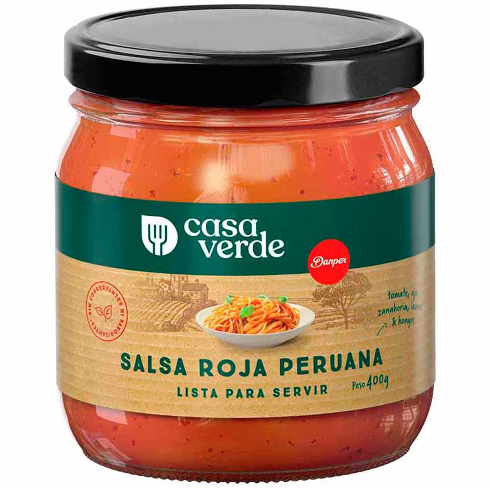 Salsa Roja Peruana Casa Verde Frasco 400g Plazavea Supermercado