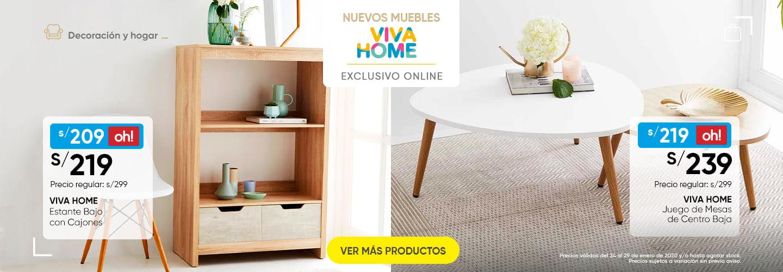 VIVA HOME ESTANTERIA Y VIVA HOME JUEGO DE MESAS